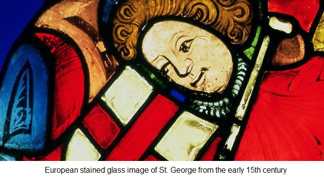 stained glass with nanoparticles to produce color