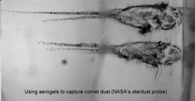 In space uses of aerogel